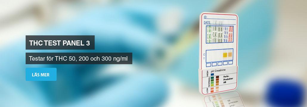 THC test som mäter koncentrationen av THC